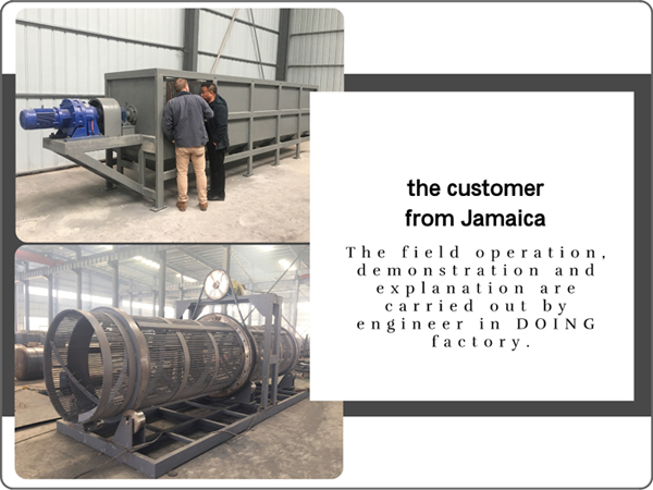 The customer from Jamaica are visiting cassava processing machine in DOING factory