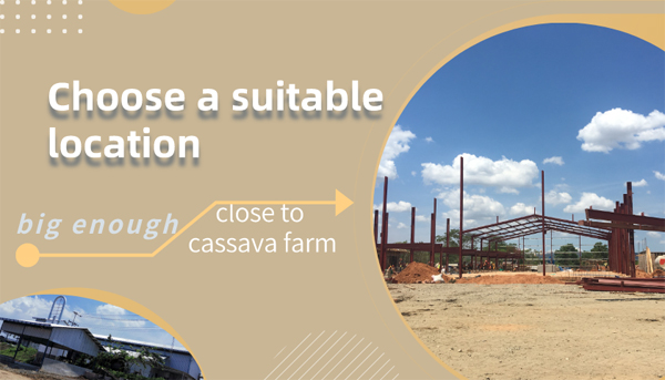 Choose a suitable location to start cassava flour processing factory in Nigeria