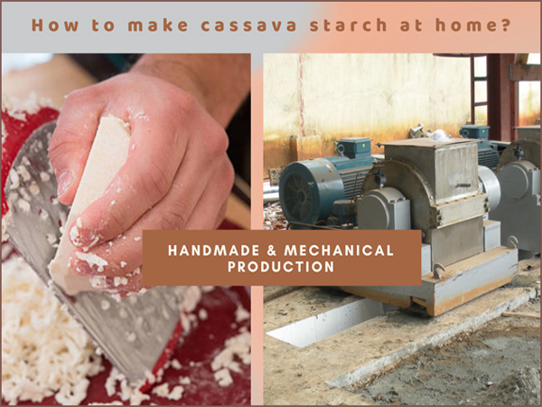 How to make cassava starch at home? Handmade & Mechanical production