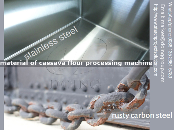 Different material cassava flour processing machine