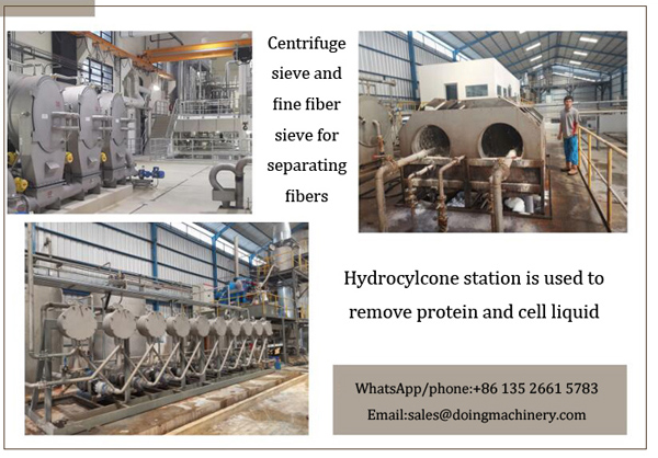 centrifuge sieve and hydrocyclone station for cassava starch making