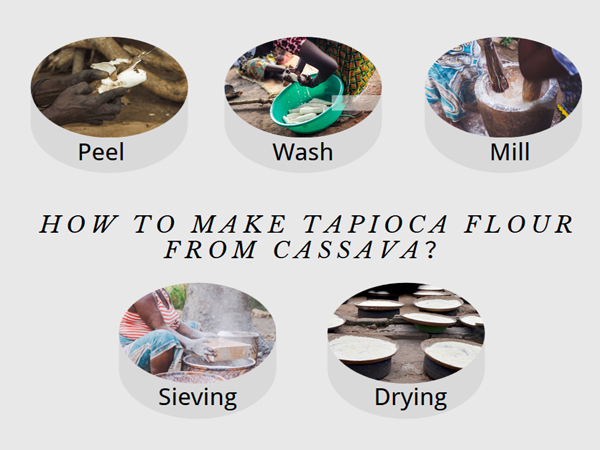 How to make tapioca flour from cassava?By traditional manual operation